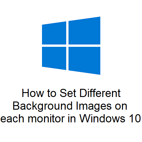 How to Set Different Background Images on each monitor in Windows 10