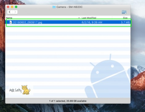 How to transfer files from Android to Mac OS - 4