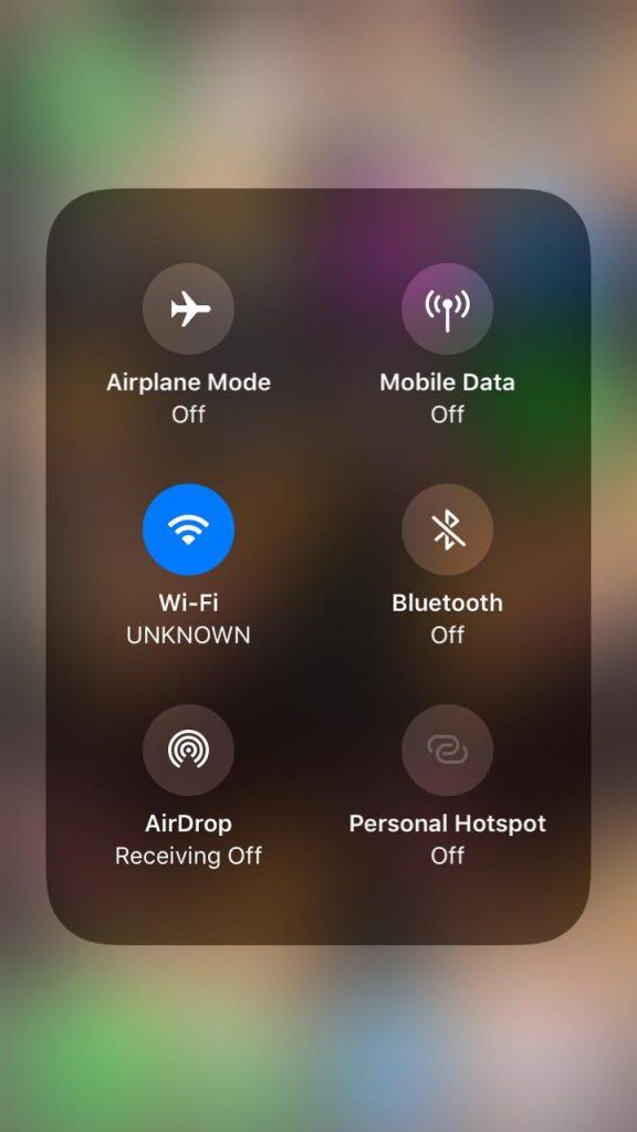 Wi-Fi panel expanding