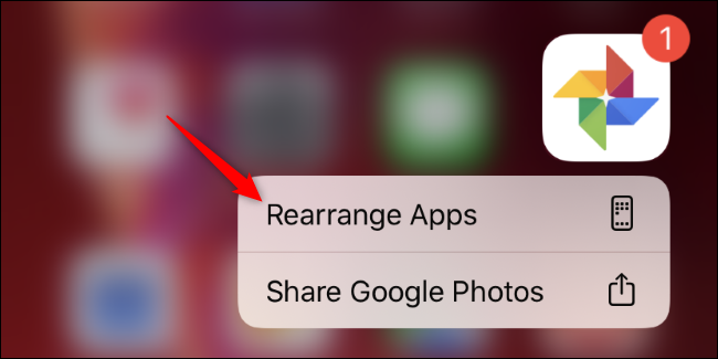 Rearrange Apps