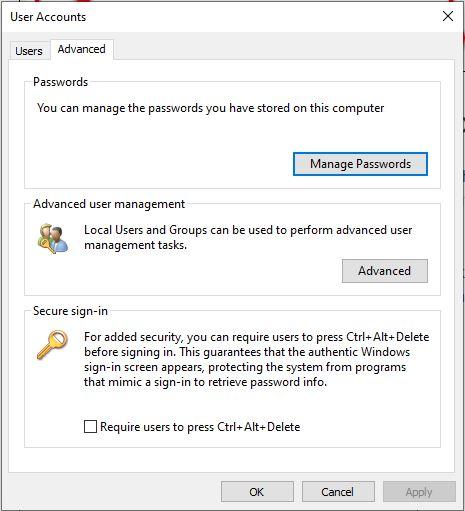 require user to press alt ctrl delete