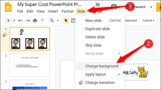 How to Change the Background in Google Slides - 1
