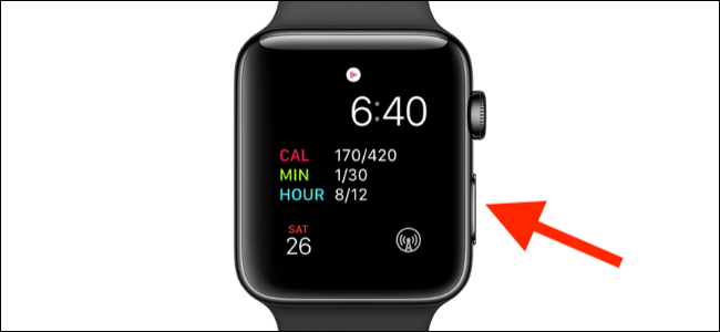 hold and press the side button of apple watch to restart