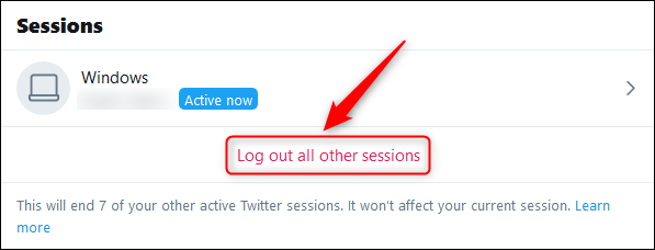 log out all other sessions