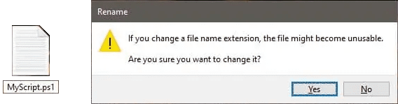 Change Extension of text file as Script