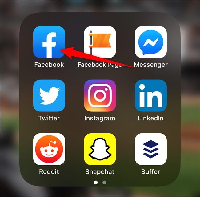 Open Facebook through the spotlight search