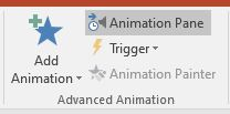 animation pane in advanced animation group
