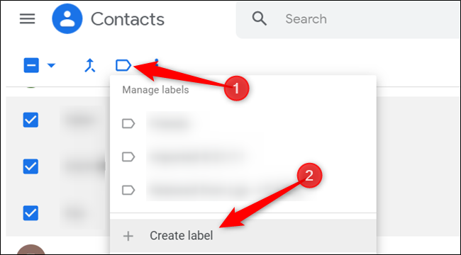 click on the label and select create label