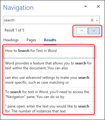 navigation pane in microsoft office