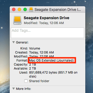 MacOS extended