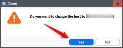 do you want to change the host of the meeting