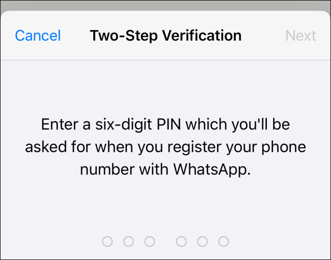 enter the six digit pin for two step verification