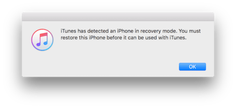 iTunes have been discovered in the recovery mode