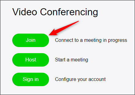 joining meeting in zoom website