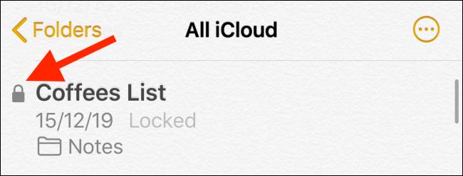 locked note