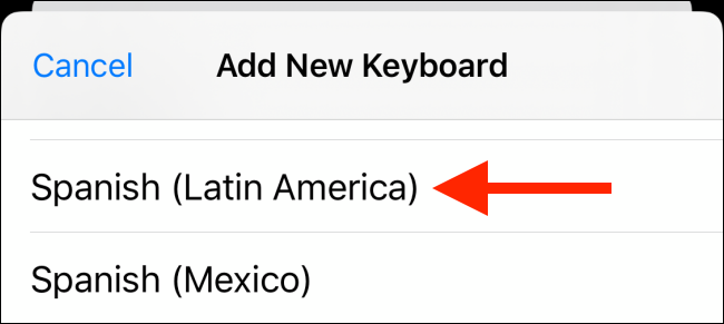 select the language to add it to the iPhones keyboard
