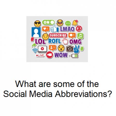 social media abbreviations trend