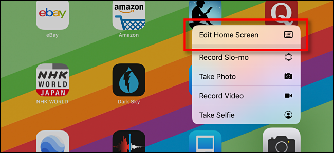 edit home screen in ipad