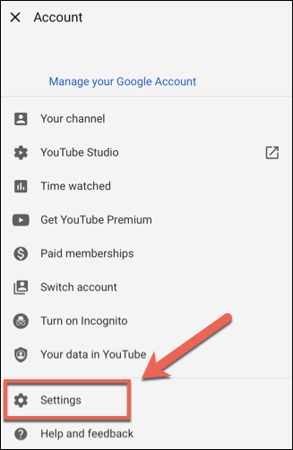go to settings in accounts