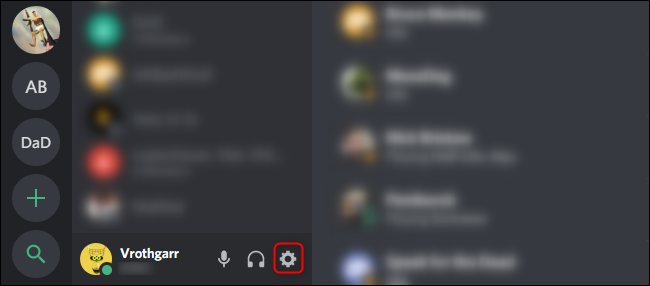 go to settings in discord