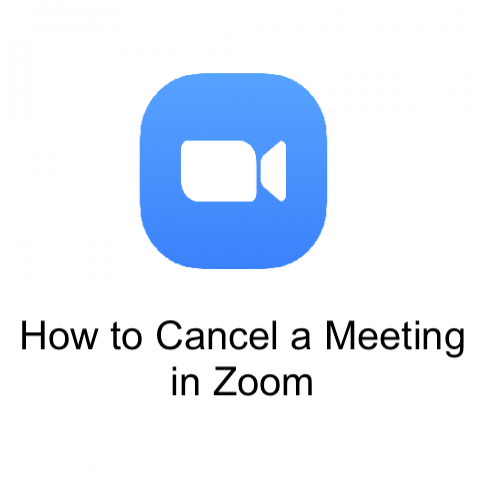 Delete a scheduled meeting in Zoom