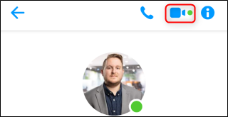 click on the video call icon on the facebook messenger