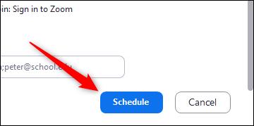 schedule the meeting in zoom