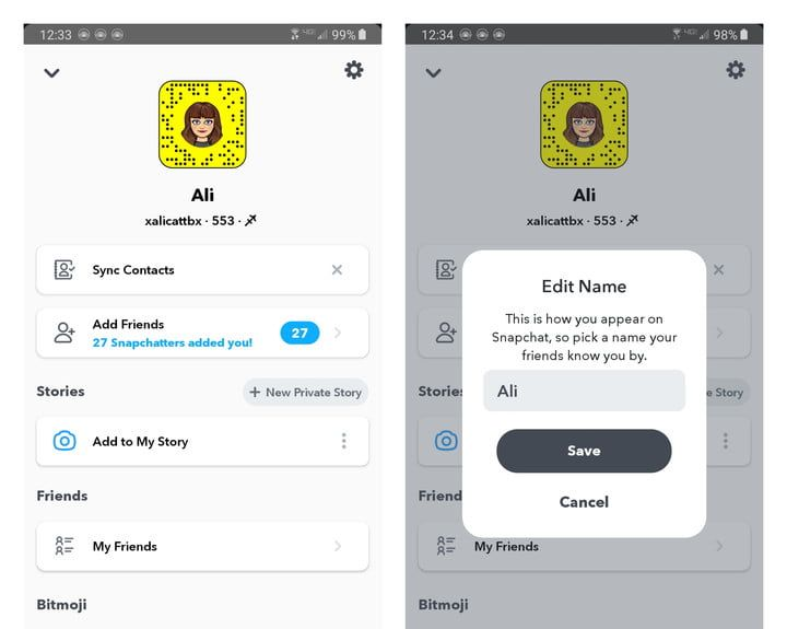 How to Change Your Display Name on Snapchat
