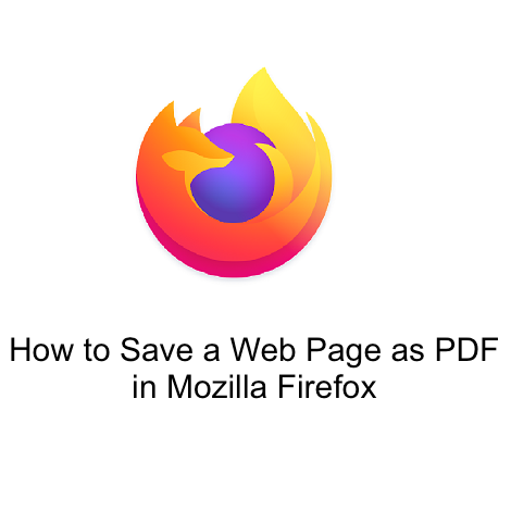 How to Save a Web Page as PDF in Mozilla FirefoxHow to Save a Web Page as PDF in Mozilla Firefox