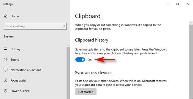 clipboard history on windows 10