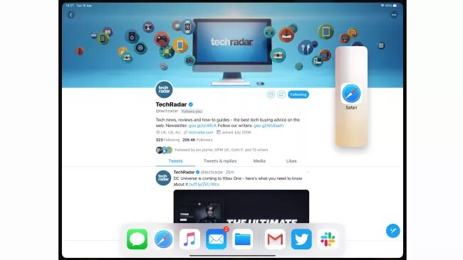 drag and drop the second app to enable split view on ipad