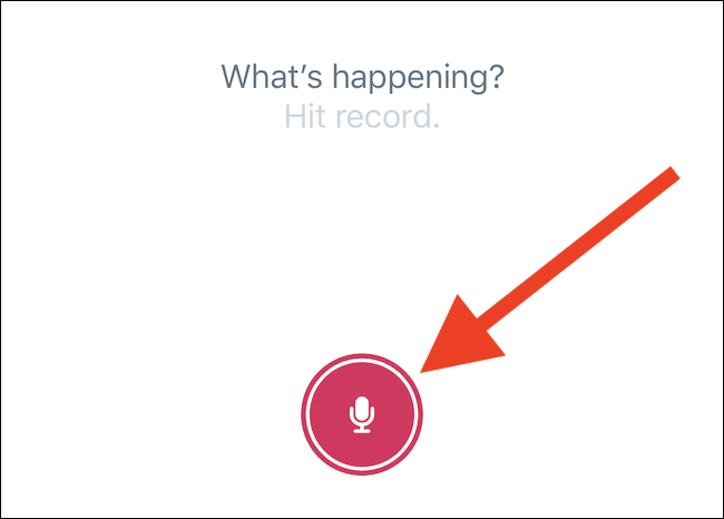 hit the recording button to record the voice tweet