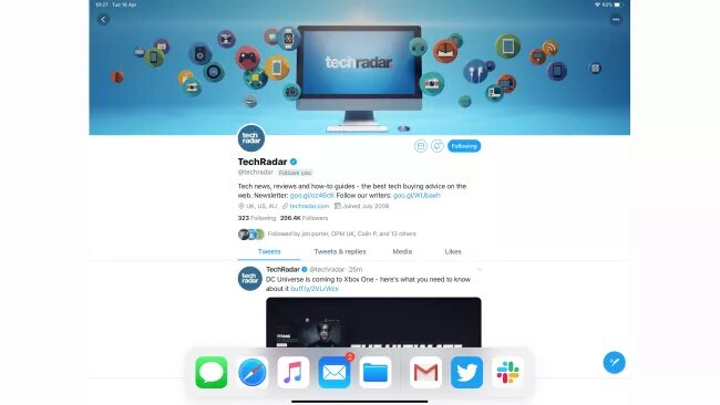 open the main app on ipad to enable split view