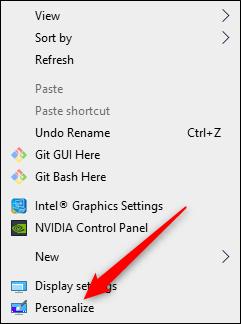 personalize your desktop