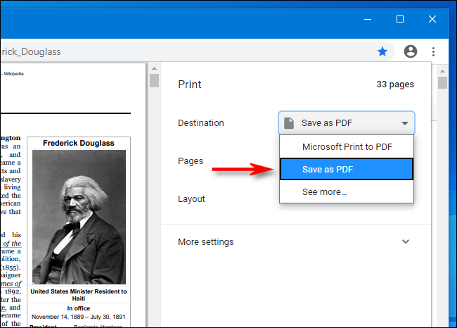 save a chrome web page as Pdf file