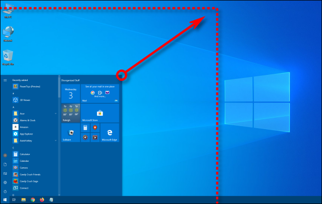 set both length and width of the start menu
