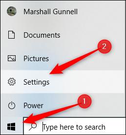 Windows Settings in Windows 10