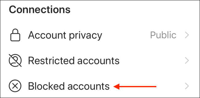 blocked accounts settings in instagram