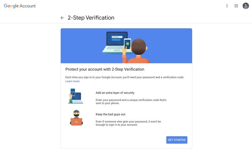 2-step verification for google accounts