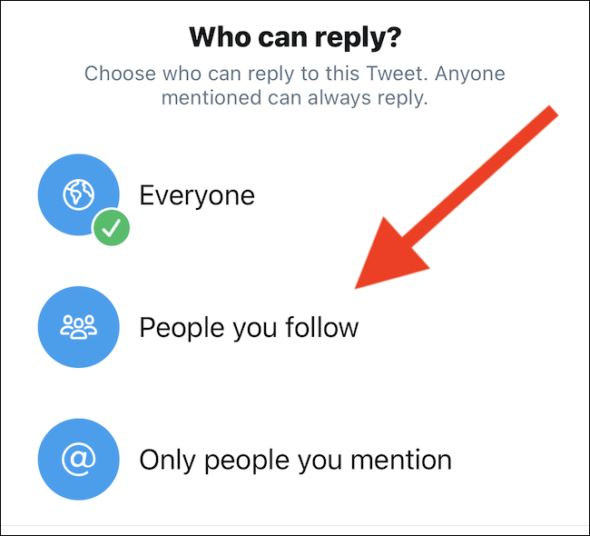 choose who can reply to your tweet