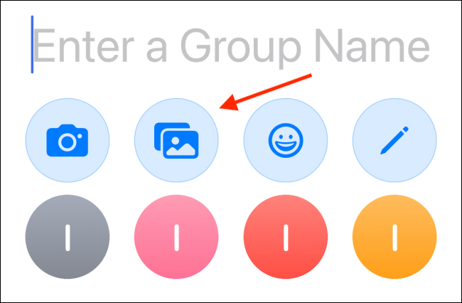 enter a group name in iMessage