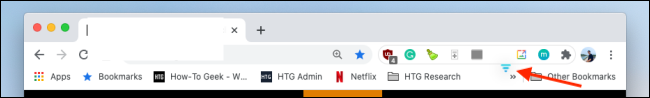 rearrange the extension on chrome toolbar