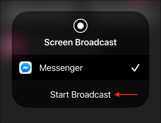 screen broadcast messenger app
