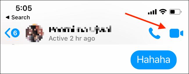 start video call on messenger app
