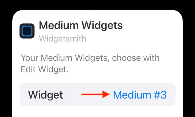 choose the widget option