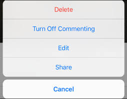 turn off commenting for instagram post