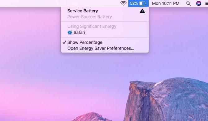 Battery Status Warning