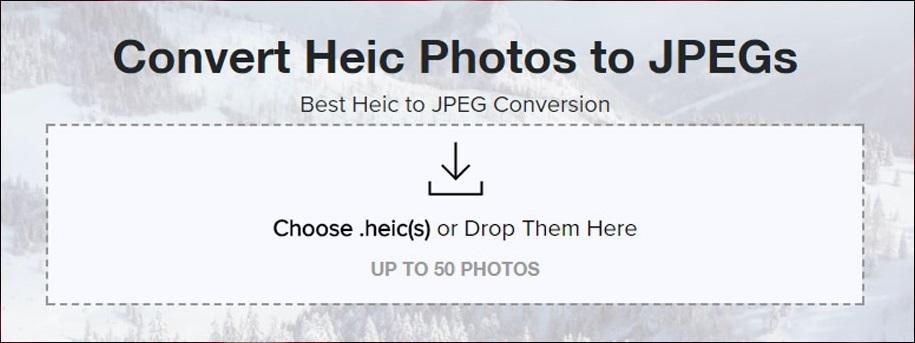 Convert HEIC format to JPG