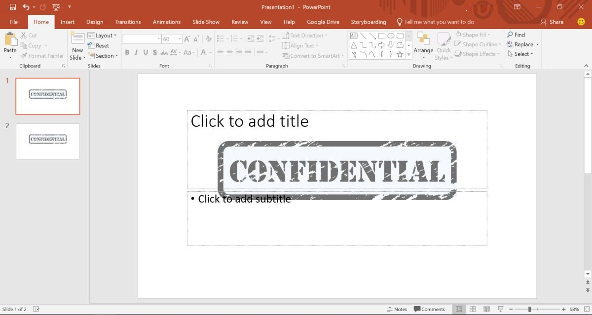 PowerPoint Presentations with Watermark