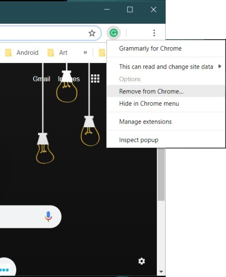 Remove Extension from Chrome